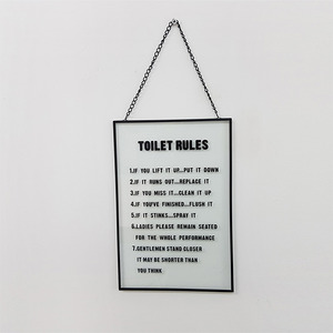 [MAGNET] TOILET RULES 벽걸이 철제 유리액자